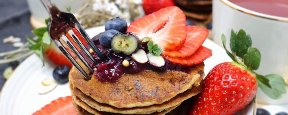 Pancakes vegani ai mirtilli