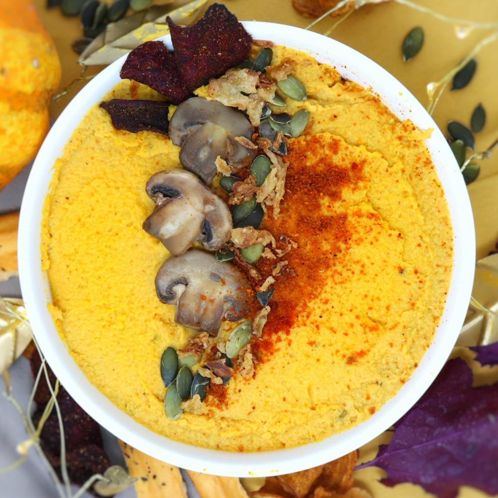 Hummus di ceci e carote