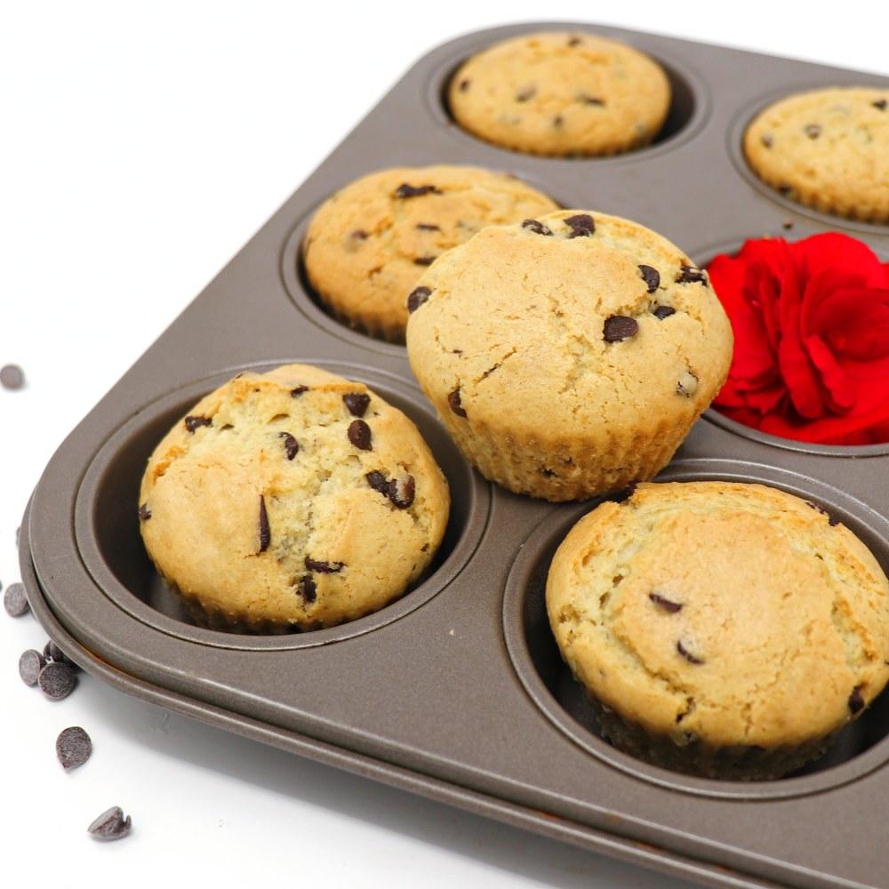Muffins vegani con gocce di cioccolato