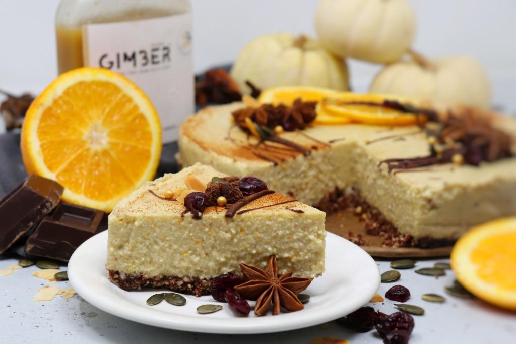 Cheesecake arancia e zenzero senza zucchero